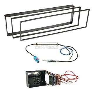 Citroen C3 Pluriel 03-10 1-DIN Autoradio Einbauset in original Plug&Play Qualität mit Antennenadapter, Radioanschlusskabel, Zubehör und Radioblende/Einbaurahmen schwarz