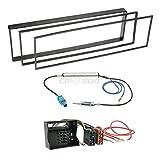 Citroen C2 03-10 1-DIN Autoradio Einbauset in original Plug&Play Qualität mit Antennenadapter, Radioanschlusskabel, Zubehör und Radioblende/Einbaurahmen schwarz
