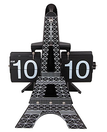 KHSKX Pagina di Torre Eiffel e moda l'orologio della torretta di Eiffel pagina automatica girando gli orologi regalo creativo