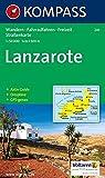 Kompass Karten, Lanzarote (KOMPASS-Wanderkarten, Band 241) -