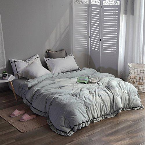 MMM Couette en coton plus épais Printemps d'hiver et automne Quilt Core Literie individuelle Chambre à coucher étudiante Climatisation Quilts ( Couleur : Vert , taille : 200*230cm(3.5kg) )