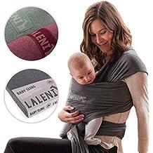 Portabebés | Fular Porta Bebé 100% Orgánico Ergonómico Y Transpirable | Pañuelo De Algodón Elástico Sin Elastán | Para Porteo De Recién Nacidos Y Bebés | Alternativa A La Mochila | De Laleni