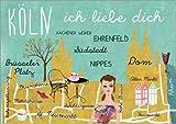 Posterlounge Stampa su PVC 120 x 90 cm: Cologne Collage di GreenNest