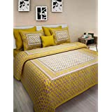 Cotton by aarzu double bedsheet with pillow cover cotton ( New year )