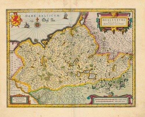 Herzogtum Sammlung (Historische Landkarte: Herzogtum Mecklenburg - 1647 (Plano))