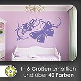 Großer Falter Ranke Wandtattoo in 6 Größen - Wandaufkleber Wall Sticker