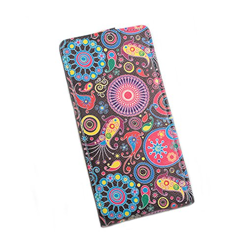 Easbuy Bunt Pu Leder Kunstleder Flip Cover Tasche Handyhülle Hülle Case Handytasche Schutzhülle Etui für Oukitel C5 Pro Smartphone Up und Down Design Handytasche