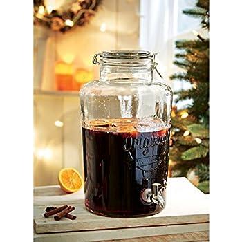 Getränkespender mit Zapfhahn - Weckglas-Optik - Für Kalt- und ...