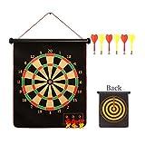 Set de dardo de seguridad magnético 15 pulgadas Profesional de doble cara tablero de dardos magnético Placa de dardo con 6 dardos Set de tablero de arte / Dart Target / Niños adultos disponibles