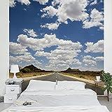 Apalis Vliestapete Route 66 Fototapete Quadrat | Vlies Tapete Wandtapete Wandbild Foto 3D Fototapete für Schlafzimmer Wohnzimmer Küche | Größe: 192x192 cm, blau, 95447