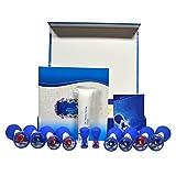 XIHAA Magnetisches Akupressur-Absaug-Schränk-Set, 10 Tassen Magnetische Schröpftherapie, Massage-Muskel-Gelenk-Schmerzlinderung (Blau)
