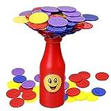 deAO Botella de Equilibrio Juego de Apilar Fichas de Colores Desafío Juego de Mesa Infantil para la Familia