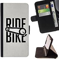 For Sony Xperia Style T3 Case , Giro in bicicletta di sport della bicicletta di esercitazione Ciclista - Portafoglio in pelle della Carta di Credito fessure PU Holster Cover in pelle case