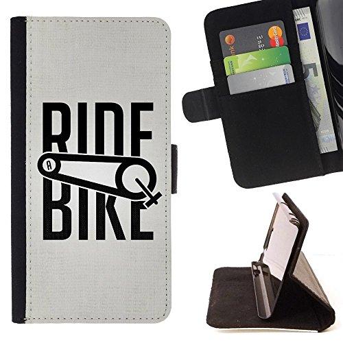 For Sony Xperia Z5 (5.2 Inch) / Xperia Z5 Dual (Not for Z5 Premium 5.5 Inch) Case , Giro in bicicletta di sport della bicicletta di esercitazione Ciclista - Portafoglio in pelle della Carta di Credito fessure PU Holster Cover in pelle case