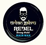 #3: UrbanGabru Rebel Hair Wax : Strong Hold | Volume | Hair Style | Shiny finish | Natural Hair wax
