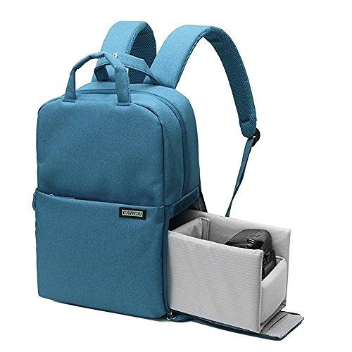 Huntvp Kamerarucksack Multi Camera Backpack Shockproof DSLR Fototasche Wasserdicht 14 Zoll Laptoptasche Langlebig Universal Camerabag für Objektiv Kamera und Zubehör Blau Hellgrau Grau Dunkelrot