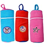 Guru Kripa Baby Products™ Presents Baby Feeding Bottle Cover Easy Zip Closure (RED, 150 ML)