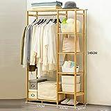 Garderobe Bambus einfach Haushalts Schlafzimmer Kleiderbügel Kleiderablage Regal Einfach und modern (größe : 90 * 30 * 145cm)