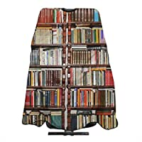 Salon Cape Barber Haircut Apron Bookcase with Snap Closure Waterproof Professional Hairdressing Cover for Hair Cutting Cut