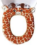 Gifts Treat WC-Sitzbezüge Cute Animal Style WC Zubehör Weiches Plüsch Bad Wärmer Matte (Giraffe)