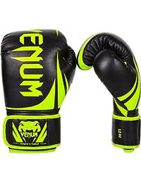 Venum Challenger 2.0 Guantes de Boxeo, Unisex adulto, Amarillo Flúor / Negro, 10 oz