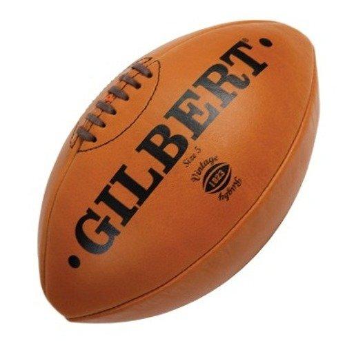 """Gilbert Leder """"Vintage"""" Rugby Ball Gr.5"""