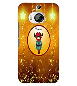 PrintDhaba Zodiac Taurus D-3742 Back Case Cover for HTC ONE M9 PLUS (Multi-Coloured)