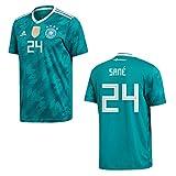 adidas DFB DEUTSCHLAND Trikot Away Herren WM 2018 - SANE 24, Größe:M