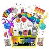 Kit de Slime de Original Stationary: Implementos para hacer slime de cristal, alien, flexible, brillante, slime de unicornio y más - Kit de slime para niñas y niños
