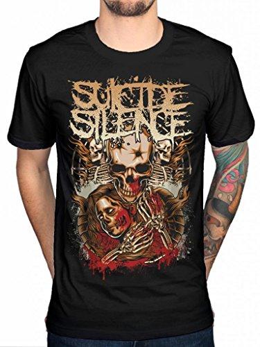 Official Suicide Silence Lost-Maglietta Love Deathcore Album musicali Chris Garza nero XXL