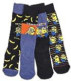 Mens Character Socks Erwachsene Minions Go Bananen Four Pack Socken erwachsengrößen 6-8.5 and 9-12 - Mehrfarbig, EU 40-42.5