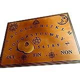 Planche Ouija Marron en bois 49 x 35 cm avec sa planchette