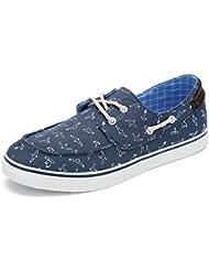 Zapatos de Hombre Casuales Slip-On de Piel Tipo Náutico con Estampado de Gaviota Zosdon
