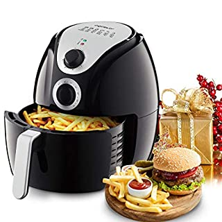 Aigostar Dragon Egg Air Fryer 30KHN- 4L, 1500W, Rapid air Circulation System, Timer and Adjustable Thermostat, auto Shut-Off, Stainless Steel and Non-Stick Basket, BPA Free