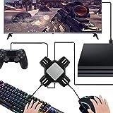 Wilove Adapter, KX USB Game Controller Konverter Tastatur Maus Adapter für Switch/Xbox / PS4 / PS3 Schwarz schwarz 9.0 X 9.0 X 2.7 cm