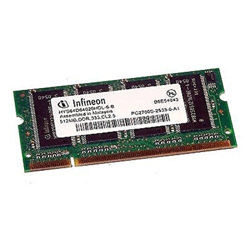 512MB Ram Laptop SODIMM Infineon hys64d64020hdl-6-b DDR1PC-2700333MHz -