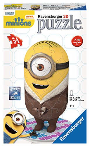 Ravensburger 3D-Puzzle 11667 - Minion, Bored Silly, 54 Teile