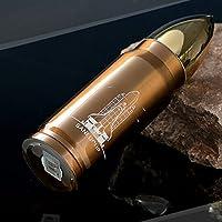 Aliciashouse Cool in Acciaio Inox Proiettile Thermos Travel Mug Isolamento 12H 350Ml Invernothermos Tazza - Dorato - Esercito Oro Coltello
