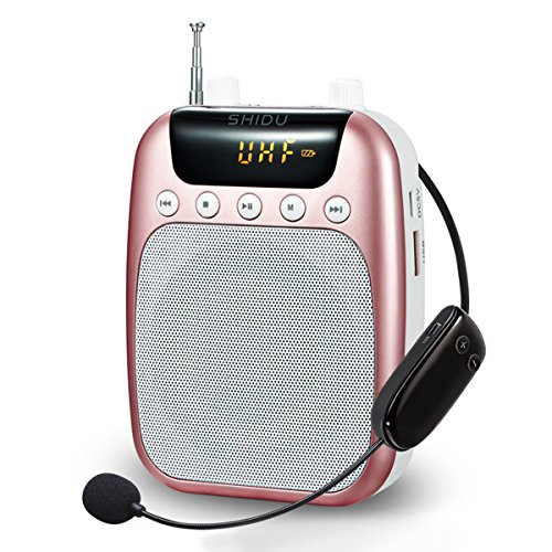 UHF Amplificador de voz (10 W) con 2600 mAh batería de litio con el micrófono inalámbrico para profesores/Trainer/guía de viajes y más azul Blau/UHF-10W