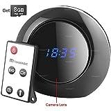 TEKMAGIC 8GB Reloj Despertador Digital Camara Espia Camufladas con Sensor de Movimiento Video Grabador Angulo Vision de 140 Grados