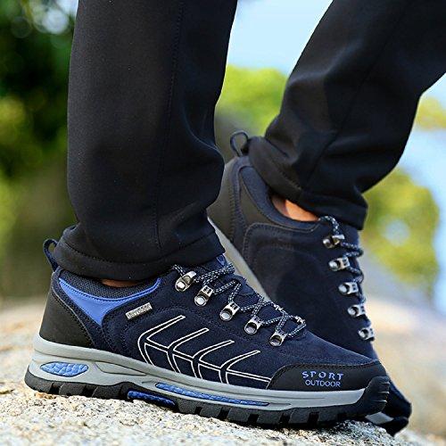 Minetom Scarpe da Trekking Uomo Donna, Impermeabile Scarpe da Escursionismo Arrampicata Stivali Unisex Traspirante Antiscivolo Sportive Allaperto Sneakers Outdoor Scarpe G Blu