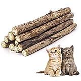 Colonel Cook- Matatabi Kaustangen LEBENSLANGE GARANTIE-|Los von 10| Katzenminze biologisch natürlich für den Zahnschutz - Katzenminze (Actinidia Polygama)