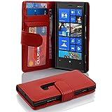 Nokia Lumia 920 Hülle in ROT von Cadorabo - Handyhülle Handyhülle mit 3 Kartenfächer Case Cover Schutzhülle Etui Tasche Book Klapp Style in INFERNO ROT