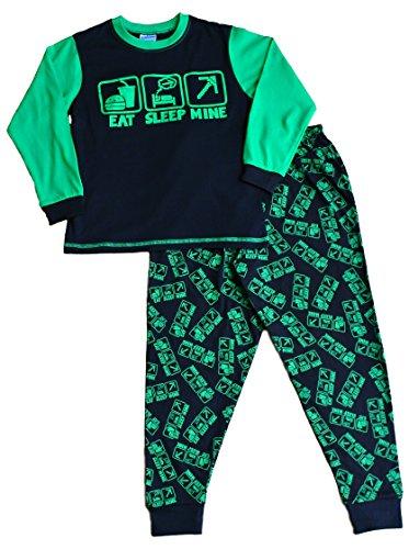 ThePyjamaFactory - Pijama dos piezas - para niño Verde verde Medium