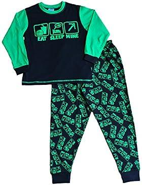 Comer dormir mina de la Boy pijama fantástico estilo de juegos de ordenador All Over Print 7A 14años