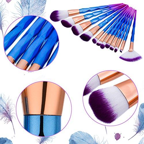 Makeup Brushes, Molie 12 pcs Make Up Brush Set Professional Foundation Eyeshadow Brush Kit, Diamond