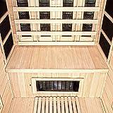 Home Deluxe – Infrarotkabine – Gobi L – Vollspektrumstrahler – Holz: Hemlocktanne - Maße: 153 x 110 x 190 cm – inkl. vielen Extras und komplettem Zubehör - 5