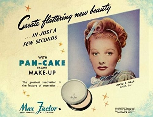 max-factor-pan-cake-make-up-lucille-ball-plaque-metal-enseignes-en-mtal-200mm-x-150mm