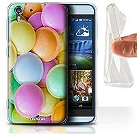 Custodia/Cover Gel/TPU/Prottetiva STUFF4 stampata con il disegno Confetteria per HTC Desire Eye LTE - Dischi Volanti - Disco Eye