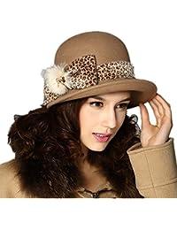 cdbcdd6afaf Kenmont Autumn Winter Women Beige 100% Wool Fashion Bucket Hat Wide Brim Cap